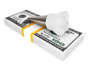 tooth implant with money